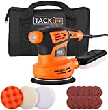 Orbital Sander and Polisher,6 Variable Speed 1300RPM Sander Machine with 10 Pcs Sandpapers,Dust