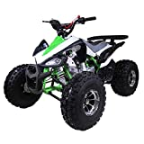 X-PRO 125cc ATV 4 Wheeler ATV Quad Youth ATVs Quads 125cc ATVs with Big 18/19' Aluminum Wheels(Green)