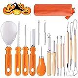 Ginbel Direct Halloween Pumpkin Carving Tool Kit, 15pcs Professional Stainless Steel Pumpkin Cutting...