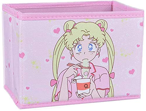Cartoon Storage Box, Cute Japan Anime Sailor Moon Tsukino Usagi Model Figure Desktop Storage Box Case Makeup Holder Organizer for Kids Girls Gift