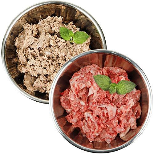 Barf-Snack biologisch artgerechtes Frostfleisch für Hunde & Katzen - Sparpaket Rind-Power-Mix & Hähnchen Komplett 28kg Gefrierfutter für Katzen, gesundes Hundefutter