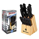 Quttin Set of Tacoma and Knives, Black, 14 Pieces, Steel