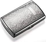 Caja de cigarrillos de acero inoxidable y hombres y mujeres alargan la caja de cigarrillos ultra delgada portátil