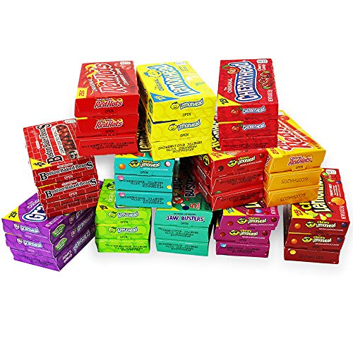 Candy Mix - 45 Individual Boxes of Ferrara Candy Mini Favorites- Lemonhead, Applehead, Cherryhead, Red Hots, Boston Baked Beans, Trolli and More Boxes of Bulk Candy