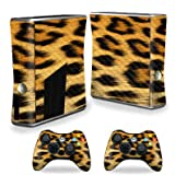 MightySkins Carbon Fiber Skin for Xbox 360 S Console - Cheetah | Protective, Durable Textured Carbon Fiber Finish | Easy to Apply, Remove, and Change Styles | Made in The USA