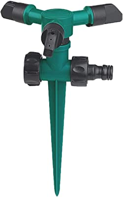 Nakcase Garden Sprinkler, 360 Degree Rotating Lawn Sprinkler with Up to 3,000 Sq. Ft Coverage - Adjustable, Weighted Gardening Watering System