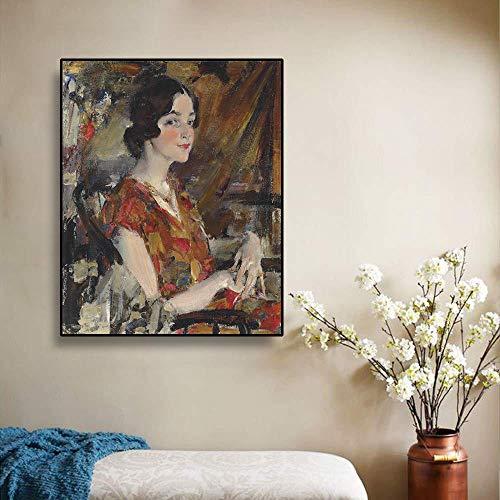 Schilderij olieverf portret van Kate op canvas kunst moderne woondecoratie en leven