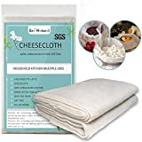 100% Unbleached Cotton Cheesecloth 4 Yards, Ultra Fine Cheese Cloths for Straining, Grade 90 Cheese Cloth Weave Fabric Filter for Cooking, Baking(SGS Certified)