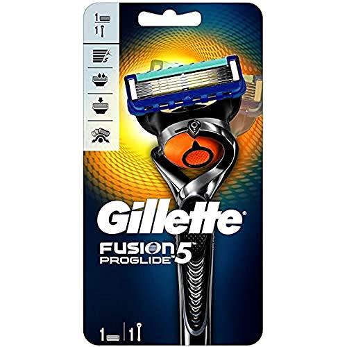Gillette Fusion 5 ProGlide Rasierer Herren mit Trimmerklinge für Präzision und Gleitbeschichtung, Rasierer + 1 Rasierklinge