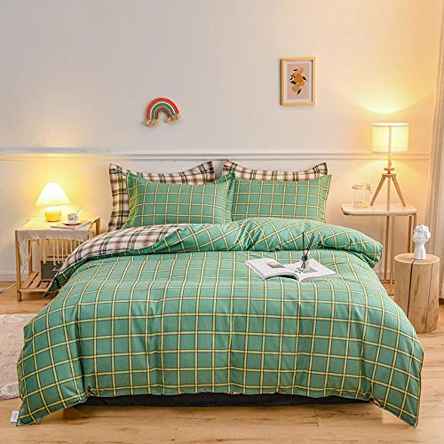 Miwaimao Fall And Winter Sanding Thick Cotton Bedding Cotton Bed Linen Quilt,Pastoral Grid,1.8m Bed