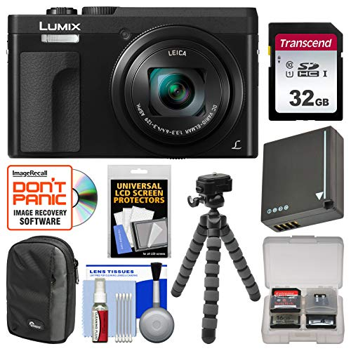 Panasonic Lumix DC-ZS70 4K Wi-Fi Digital Camera (Black) with 32GB Card + Case +...