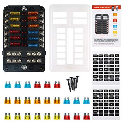 Caja De Fusibles con Indicador LED De Fusible Fundido Aplicado A Fusibles...