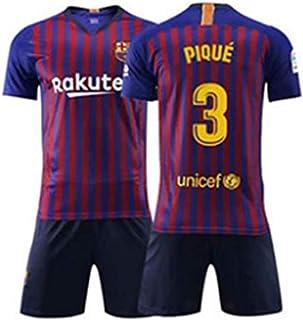 81dededd3e9 ZZXYSY Pique  3 FC Barcelona Men s Home Soccer Jersey Short Colour Blue
