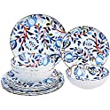 12-Piece Amazon Basics Melamine Dinnerware Set