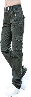 (マモル)カーゴ コンバットパンツ レディース ファッション 婦人服 コットン ゆったり 軍隊 ローライズ サイド ポケット 前開きジッパー カジュアル シンプル ボーイッシュ アウトド 運動 迷彩 通勤 通学 5色