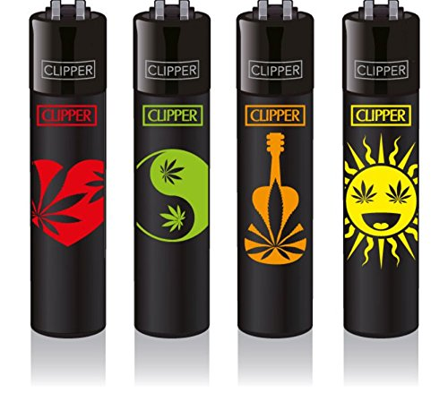 Clipper Original Feuerzeug Serie Weed Shapes 4 Stück