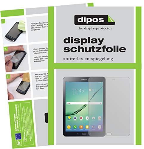 dipos I 2X Schutzfolie matt kompatibel mit Samsung Galaxy Tab S2 9,7 Zoll T819N Folie Displayschutzfolie