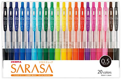 Zebra Gel Ballpoint Pen Sarasa Clip 0.5 Jj15-20ca 20 Color Set