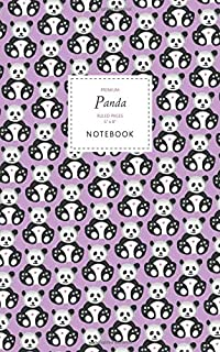 Panda Notebook - Ruled Pages - 5x8 - Premium: (Pink Edition) Fun notebook 96 ruled/lined pages (5x8 inches / 12.7x20.3cm /...