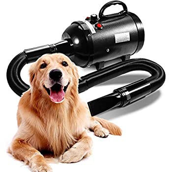 AIIYME Dog Dryer 4.3HP/3200W Motor Stepless Adjustable Speed Dog Hair Dryer Pet Dog Grooming Dryer Blower with Adjustable Temperature  35°C-70°C  Professional High Velocity Air Forced Dryer for Dogs