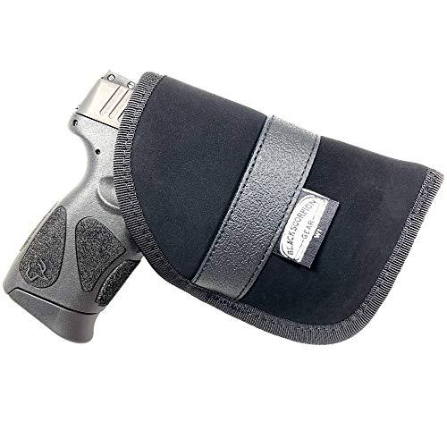 Black Scorpion Gear Concealed Carry, Ambidextrous Handgun Pocket Holster 4'' x 6'' | fits Most 6'' Subcompact Handguns |S&W MP Shield; Glock 26,27,29,30,33,42,43; Springfield XDS and Similar Handguns