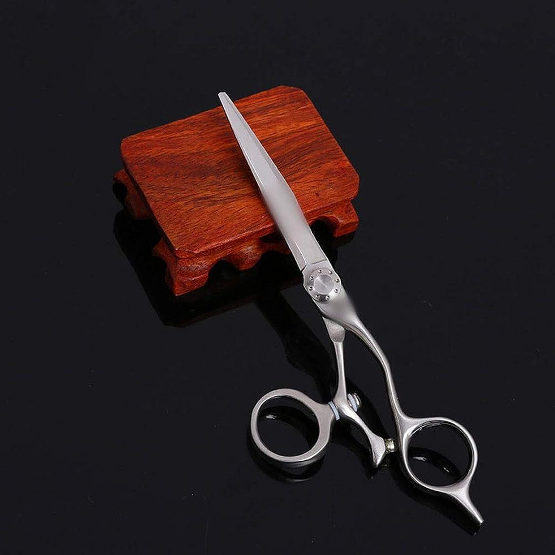 極めて重要なオーナメント著作権TAKAYAMA 6インチプロのヘアカットステンレス鋼フラットカット理髪はさみ (色 : Silver)
