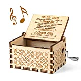 You are My Sunshine Music Box, Gift for Dad from Daughter, Wood Laser Engraved Vintage Music Boxes, Unique Best Gift for Father's Day, Birthday/Christmas/Thanksgiving Day
