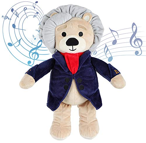 Vosego Ludwig Van Beethoven Virtuoso Bear | 40 mins Classical Music for Babies | 15″ Award Winning Musical Soft Toy | Educational Toy for Infants Kids Adults