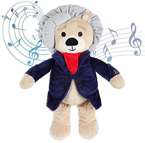 Virtuoso Bears Ludwig van Beethoven Baby Musik Teddybär | 40 Min. klassische Musik für Babys | 38 cm großes Baby Kuscheltier mit beruhigender Entspannungsmusik | Baby Geschenk Spielzeug Stofftier