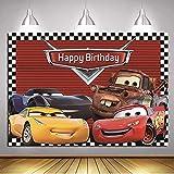 coche Fondo de la foto Ruta 66 fondo de carreras baby shower niño feliz cumpleaños fiesta decoración banner estudio de pie 7x5ft