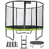 Kangui - Trampoline de Jardin Rond 305 cm + Filet + échelle + bâche + kit d'ancrage | PUNCHI Vert