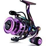 Sougayilang Fishing Reel, Colorful Ultralight Spinning Reels with Graphite Frame 6.0:1 High Speed, 12+1BB, Braid-Ready Spool, Over 39 lbs Carbon Drag for Saltwater or Freshwater Fishing- SC1000