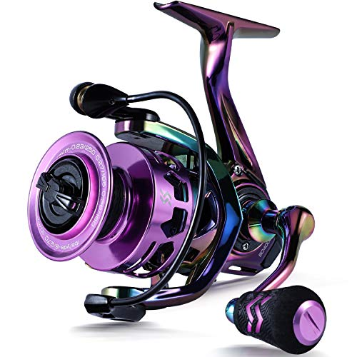 Sougayilang Fishing Reel, Colorful Ultralight Spinning Reels with Graphite Frame 6.0:1 High Speed, Over 39 lbs Carbon Drag for Saltwater or Freshwater Fishing- SC1000