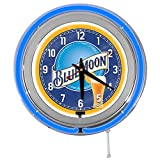 Blue Moon Beer 15' Blue Double Neon Garage Clock from Redeye Laserworks