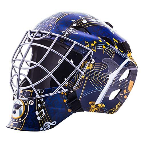 Franklin Sports St. Louis Blues NHL Hockey Goalie Face Mask - Goalie Mask for Kids Street Hockey - Youth NHL Team Street Hockey Masks