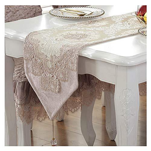 WXIAO Romantische tafelloper van kant voor bruiloft, decoratie, traditioneel, elegant, machinewasbaar, eiken, outdoor, picknick, tafel