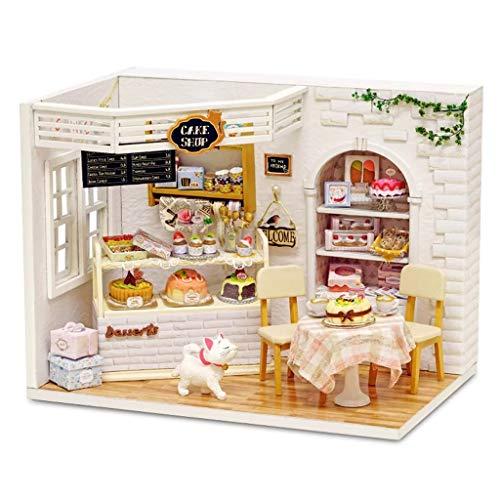 NHK-MX Pastel Modelo de casa de muñecas en Miniatura, Kit de Madera de construcción Creativa de Bricolaje, para niños y niñas Regalos de cumpleaños