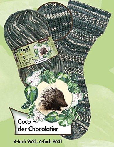 Tutto-Opal Opal Sockengarn - Regenwald XIV - 4fach 9621 Coco - der Chocolatier