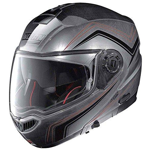 Nolan N104 ABSOLUTE COMO Klapphelm Motorrad Polycarbonat n-com - verkratztes chrom Größe XXS