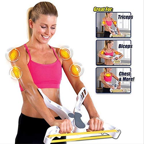 Letton Arm-Trainingsgerät für Oberkörper, Widerstandstraining, mit 3 Widerstandsbändern für Frauen, stärkt Arme, Bizeps, Schultern, Brust