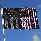 Bandera de jardín Cervical Cancer Awareness Flag Breeze Flag Yard Flag Yard Flag Yard Banner Bandera de jardín de una sola capa 150 x 90 cm