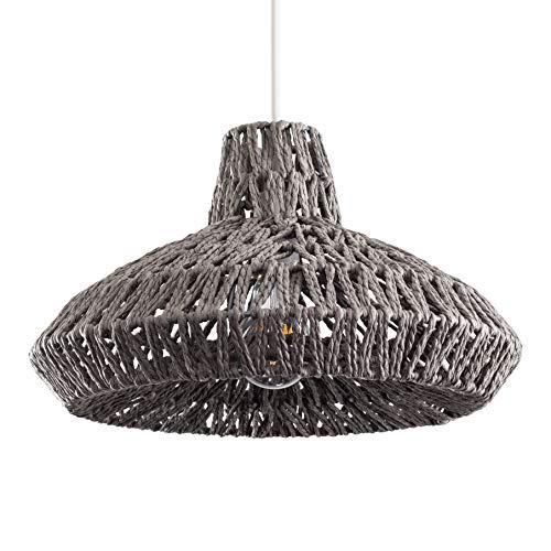 Modern Grey Woven Rope Design Ceiling Pendant Light Shade