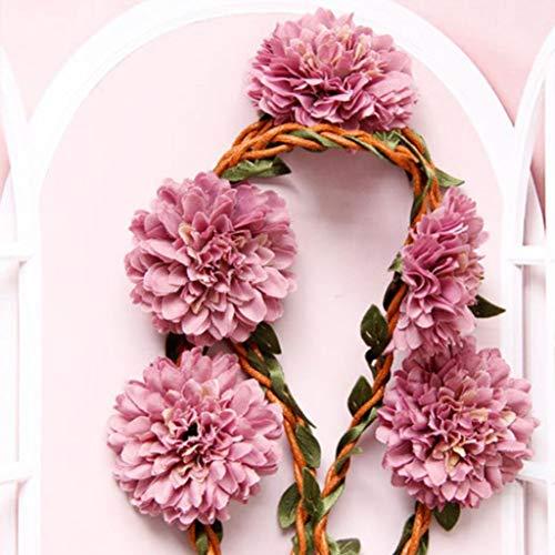 N/U PULABOJapan - Diadema para novia, diseño de flores y flores