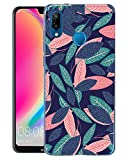 Alsoar Coque Huawei P20 Lite, Bumper Housse Etui [Liquid Crystal] Ultra Mince Protection Premium TPU Silicone Premium Transparent/Exact Fit/Souple pour Huawei P20 Lite (Feuilles Colorées)