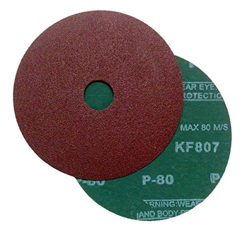 Falon Tech 25 Stück Fiberschleifscheiben für Winkelschleifer Korn 80