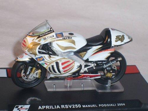 Ixo Aprilia RSv250 RSv 250 Manuel Poggiali 2004 Motogp 1/24 Altaya by Modellmotorrad Modell Motorrad