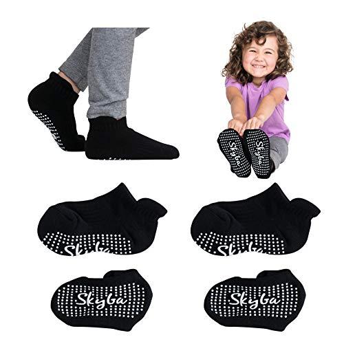Skyba Calcetines para niños pequeños con puños de trampolín, calcetines para niños y niñas