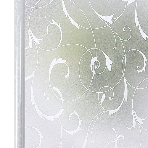 LMKJ Película de Ventana esmerilada de privacidad Etiqueta de Ventana autoadhesiva de UVA Blanca Película de vitral extraíble A65 40x100cm