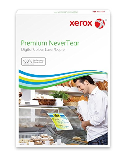 Xerox 003R98091 Wasserfestes Papier Premium NeverTear, DIN A4, 145 µm, 100 Blatt, weiß
