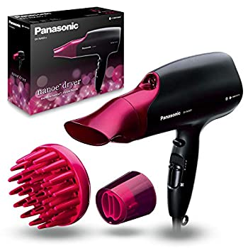 Panasonic EH-NA65-K nanoe 1875-Watts Hair Dryer Professional-Quality with Quick-Dry Blow Dry Nozzle  220 Volts - European Cord